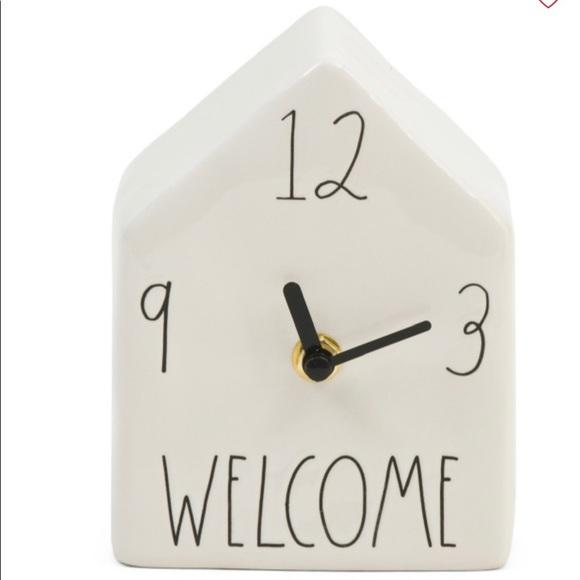 "Rae Dunn ""House Shaped"" Clock"